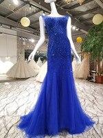 2018 Новое Сексуальное вечернее платье с кристаллами и бусинами, женские вечерние платья с открытой спиной, фатиновые платья с украшениями из