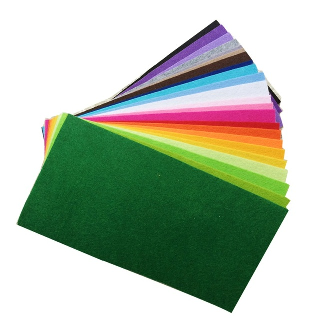 40pcs 20x10cm Non-woven Felt Fabric 1mm Polyester Cloth Felts DIY Bundle For Apparel Sewing Dolls Crafts Multi-color 4
