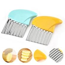 Фрезы для картофеля из нержавеющей стали, картофельные чипсы, пластиковая ручка, Овощная морковь, измельчитель пищи, кухонные ножи, инструмент для фруктов