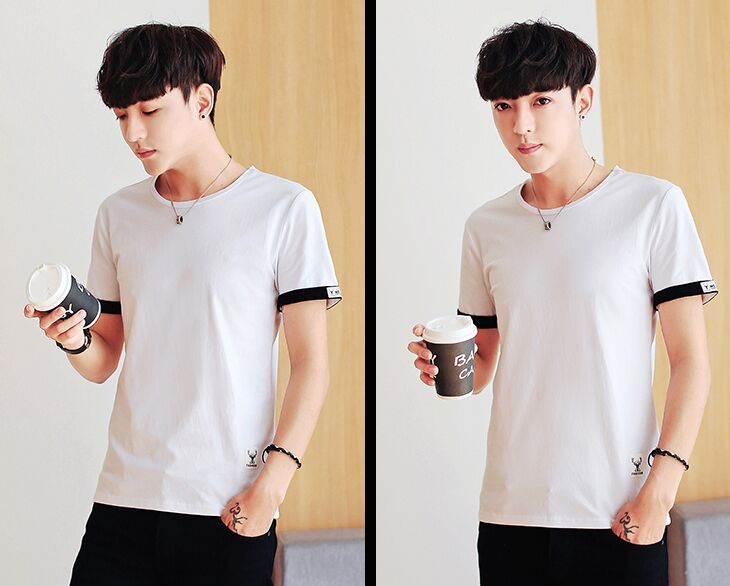 YSMILE Y man students short sleevedshirt Loose Korean Japanese shirt all-match personality trend of short axis of earth