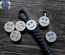 Titanium Expression Pack EDC Knife Beads Umbrella Rope Pendant Tail Key Chain Zipper Head Paracord