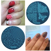 Lulu nail art beatuty store small orders online store hot nails 55 disc template nail stamping plates polish stencils for stamp nail art prinsesfo Image collections
