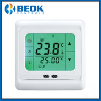 Free Shipping TST60 EP 16A LCD Touch Screen Display Electrical Floor Heating Room Thermoregulator with Green Backlight