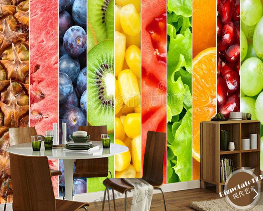 Fruits Healthy Food 3d Wallpaperliving Room Tv Wall Kitchen Wallpapers Home Decor Restaurant Cafe Bar Mural Papel De Parede