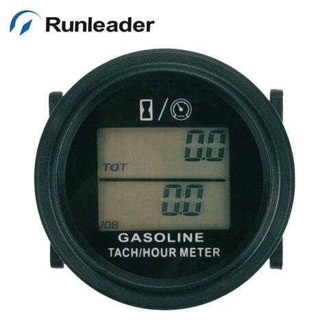 snap in lcd digital medidor de horas medidor de tacometro medidor de horario motor a