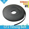 10 M/lote acessórios da impressora 3D GT2 cronometragem synchronous belt largura 6mm 2 GT-6mm para a impressora 3d RepRap Mendel cinto 2GT polia