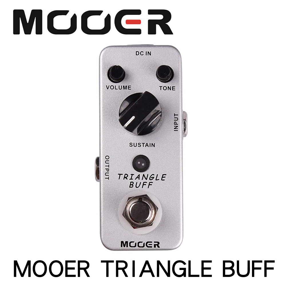 Portable MOOER MFZ2 TRIANGLE BUFF Fuzz Guitar Effect Pedal True Bypass Full Metal Shell