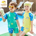 Quick drying Kids Dive Skin Short Sleeve One-piece Swim Suit Boys and Girls Swimwear Rash Guard Sun Protection children's sets