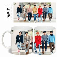 SUPER JUNIOR sj color Changeing Mug Print Anime Coffee Cup Man Morning Tea  Cups With Gift Box MKB889 2e69c009a307