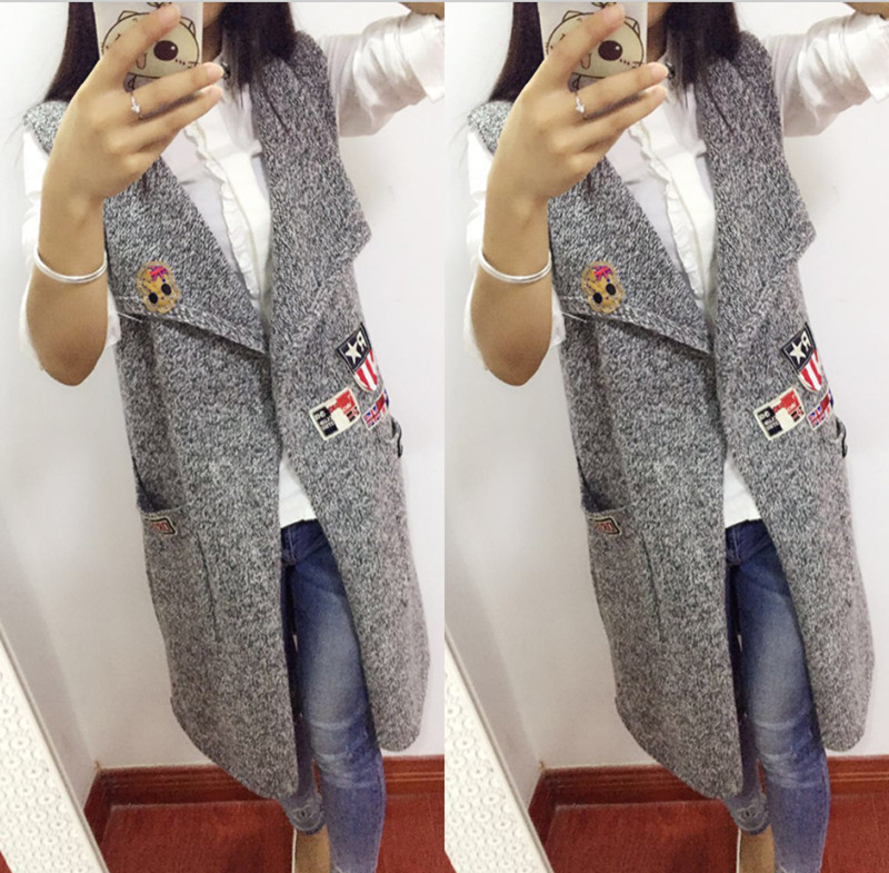 Sleeveless Jacket Knitting Pattern : Long knitted vest pattern promotion shop for promotional