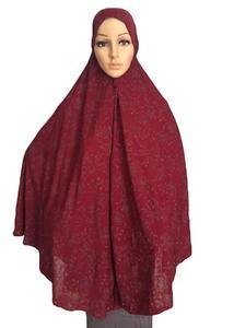 Image 5 - فستان نسائي مصلاة للمسلمين وشاح طويل Khimar حجاب إسلامي كبير ملابس علوية رداء الصلاة قبعة Niquabs مطبوع حجاب أميرة