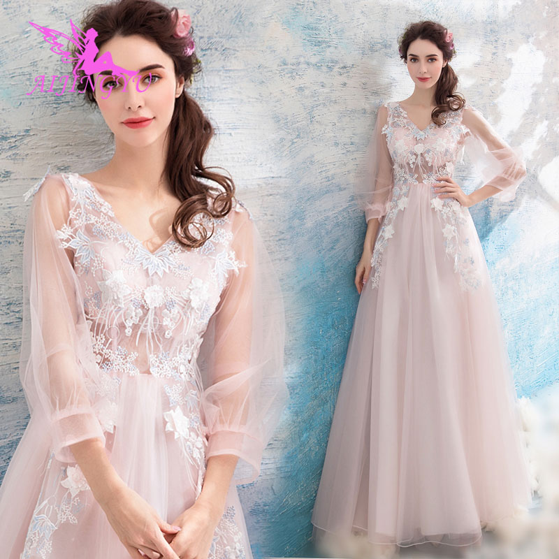 AIJINGYU 2018 Luxury Free Shipping New Hot Selling Cheap Ball Gown Lace Up Back Formal Bride Dresses Wedding Dress TJ217