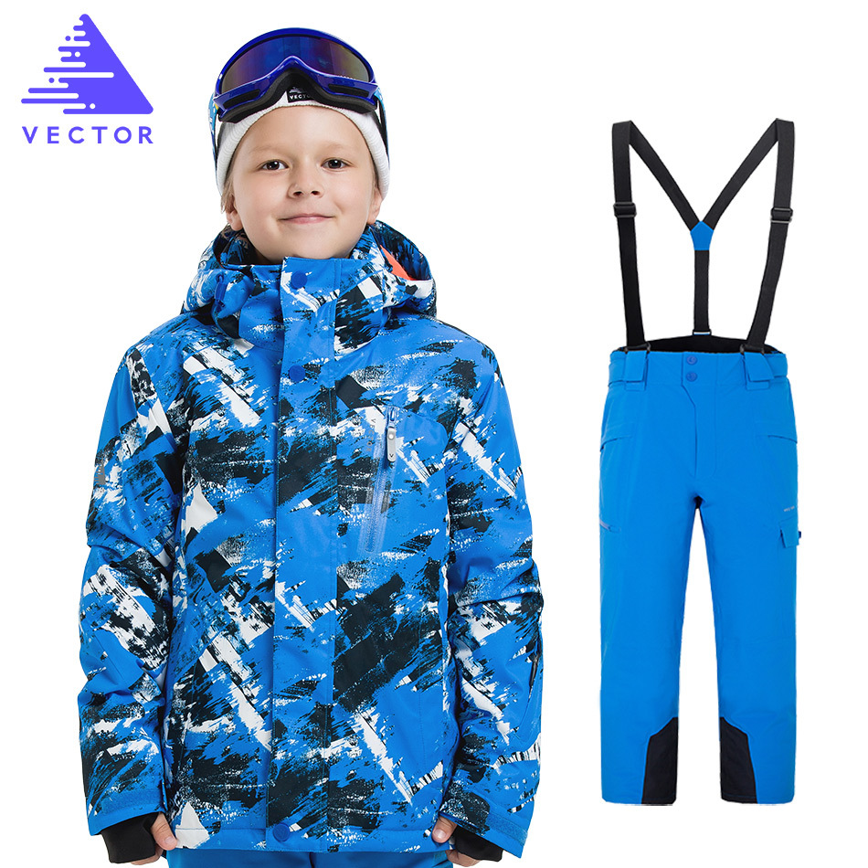 Boys Girls Ski Suits Warm Waterproof Children Skiing Snowboarding Jackets + Pants Winter Kids Child Ski Clothing Set