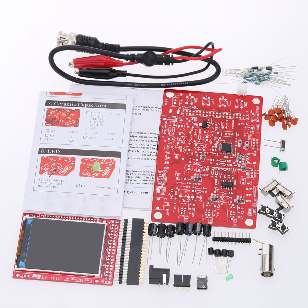 Dso138 24 tft handheld pocket size digital oscilloscope kit diy dso138 24 tft handheld pocket size digital oscilloscope kit diy parts acrylic diy case cover shell for dso138 in oscilloscopes from tools on solutioingenieria Image collections