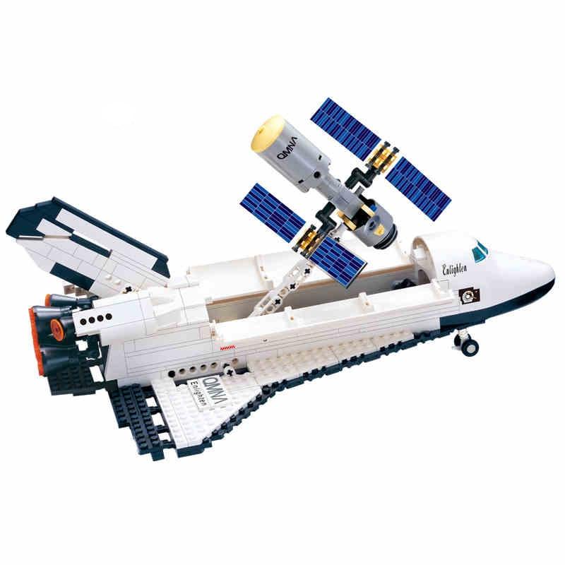 Building Blocks Space shuttle DIY Assembling Toys for Children Birthday Gift  593pcs 514 pair of faux turquoise arrow earrings