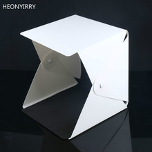 New Button Type Portable Folding Lightbox Photography Studio Softbox LED Light Soft Box fo