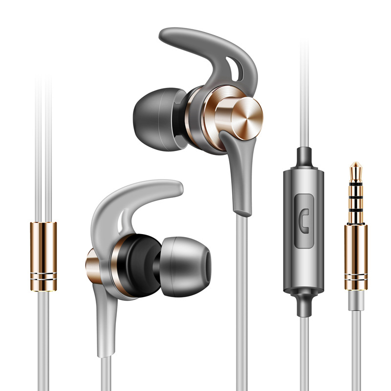 New J02 Shark Fins Metal Earphones 3.5mm In-ear Earphones Stereo Earphones Headsets Supe ...