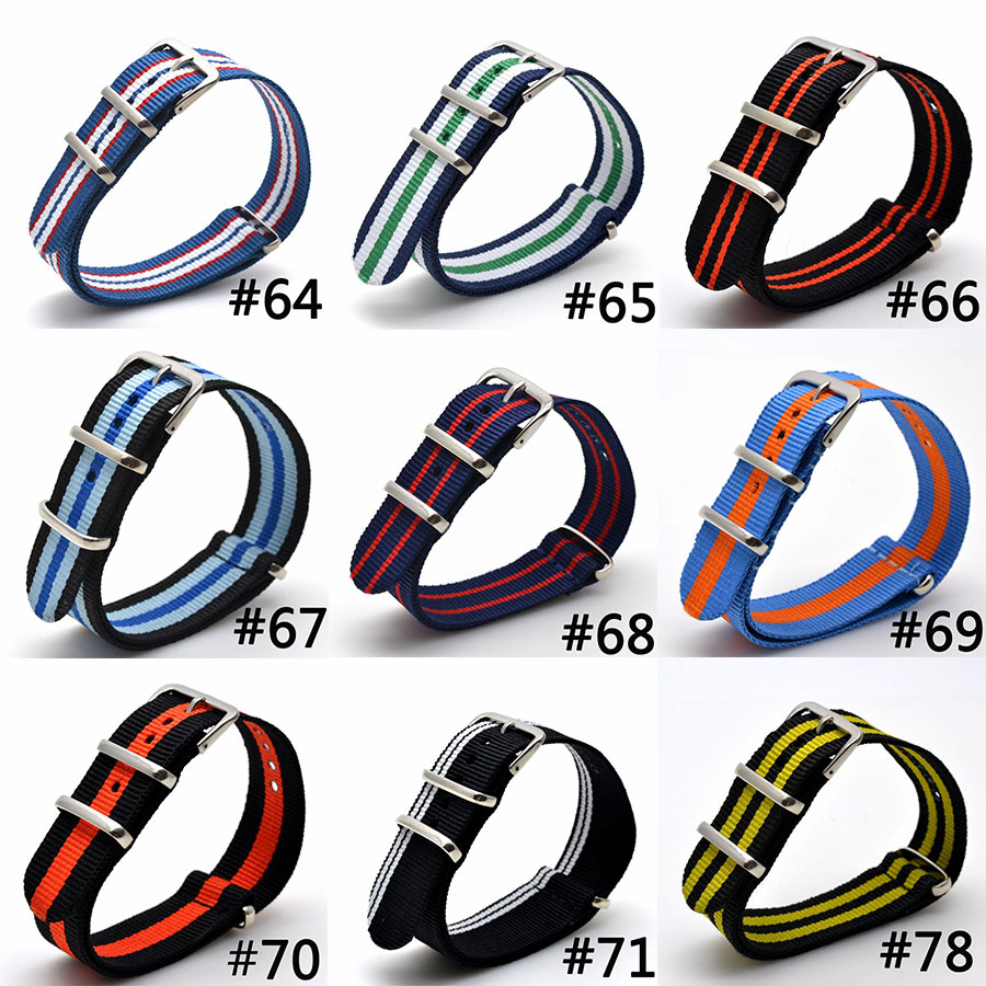 Top Quality 2018 Nato Army Sports Buckle Fabric Nylon Watch Bands Strap 9 COLOR AVAILABLE Men Women 16 18 20 22 24mm top brand luxury men watch band straps red 16 18 22 24mm bracelet nato fabric nylon watchbands strap bands buckle belt