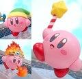 NUEVA caliente 10 cm Q versión Popopo Kirby figura de acción juguetes muñeca de juguete de colección de navidad con la caja