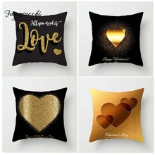 Fuwatacchi Valentines Day Style Cushion Cover Love kiss Printed Pillow Festival Gifts Decorative Pillows For Sofa Car