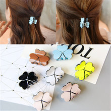 New Fashion Hot Sale Lovely Girls Scratches Hair Claws Clover Small Horsetail Hair Grab High Quality Hairclaws Hair Accessories(China)