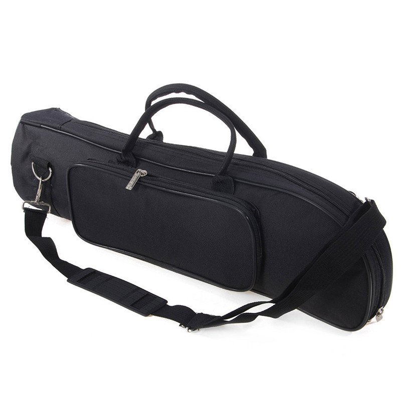 Trumpet Bag Case Trumpet Nylon Bag Thicken Padded Foam Non-woven Inner Cloth With Adjustable Shoulder Strap Pocket
