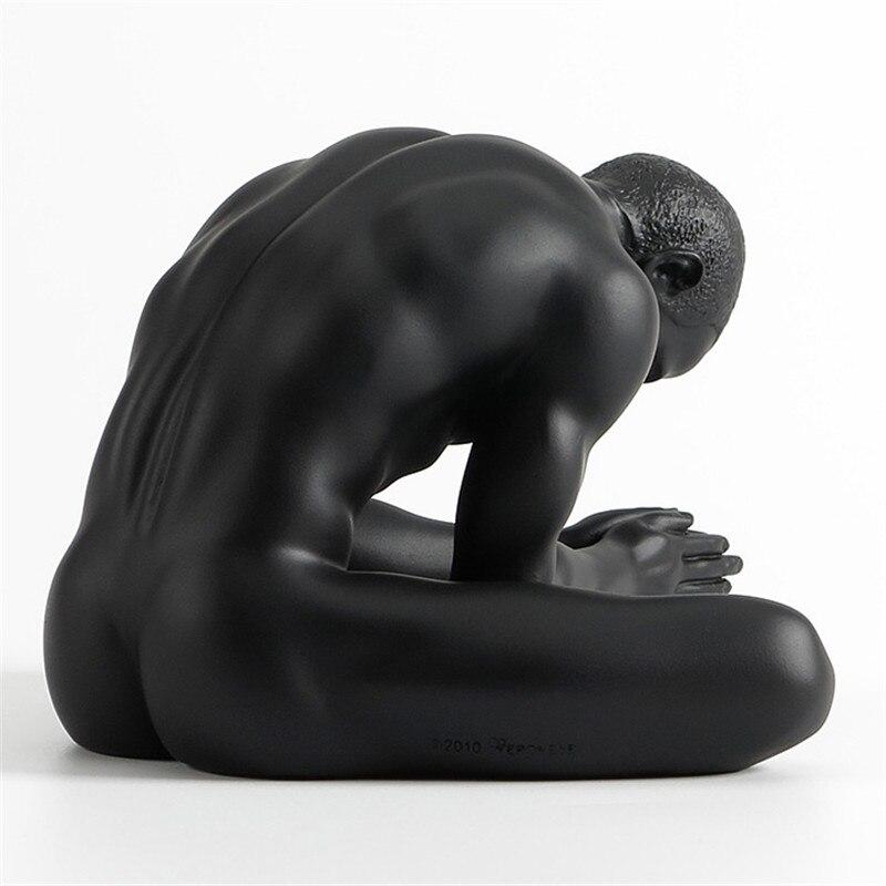 Resin Body Art Mold Nude Male Masculine Gas Decoration Silicone Mold Creative Home Accessories Gymnastics Sculpture L3145