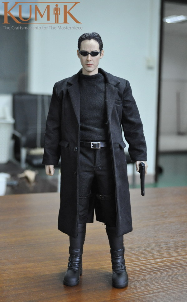 KUMIK 1/6 Scale Doll Model Keanu Reeves The Matrix Neo,12 action figure doll,Collectible Figure toy 1 6 scale model metal gear solid v the phantom d dog diamond dog about 23cm collectible figure model toy gift