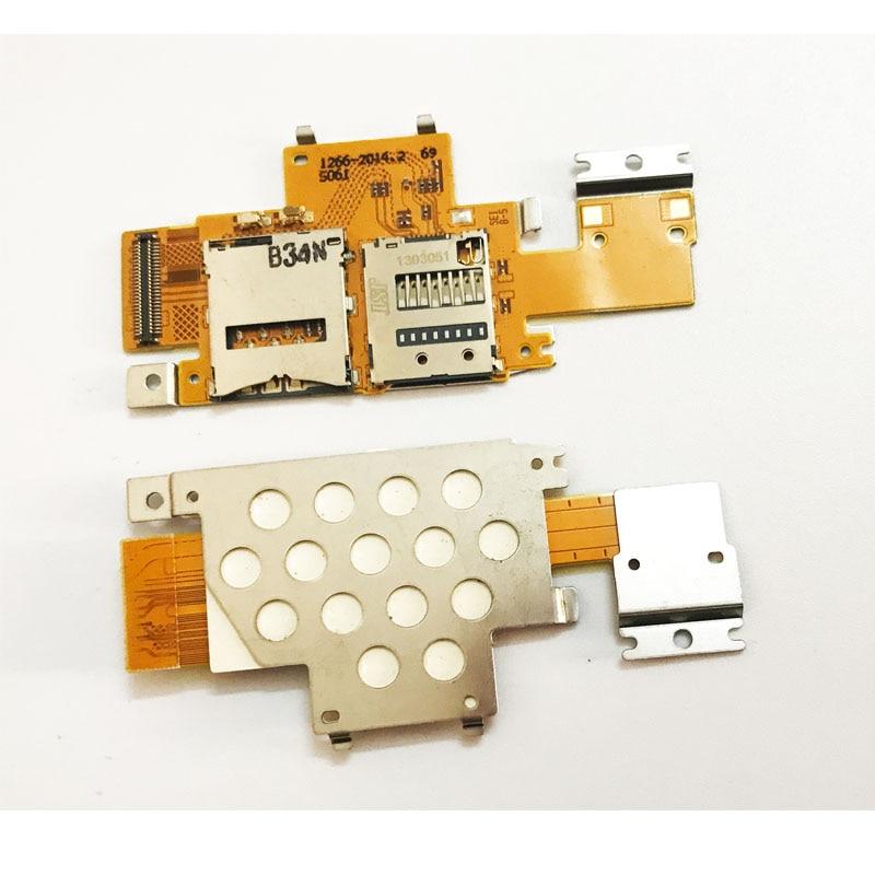 New625 For Sony Xperia Tablet Z  SGP311 SGP312 SGP321 SIM Card Holder Slot Socket Reader Tray Flex Cable High Quality