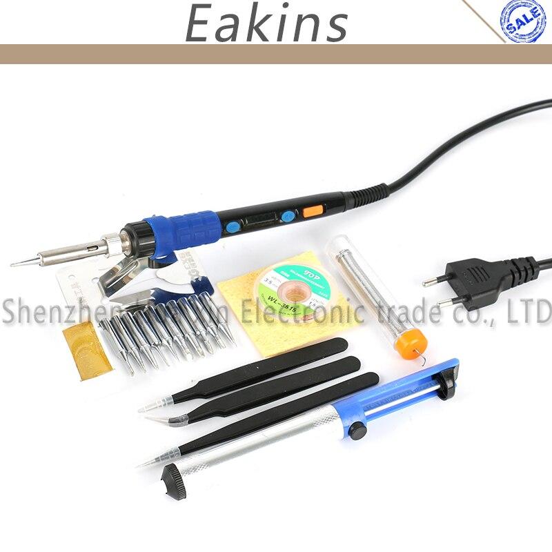 YIHUA 928D ESD Adjustable TemperatureThermostatic LED Digital Electric Soldering Iron Soldering Station 65W 220V EU Plug