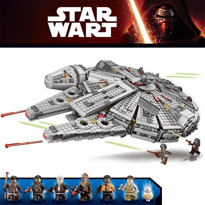 Jeu d'étoiles de réveil de Force série Wars Compatible LegoINGLYS 79211 figurines de faucon du millénaire modèle blocs de construction jouets pour enfants - 6