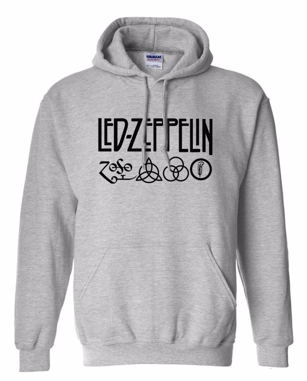 Men's Clothing Rock And Roll Led Zeppelin Rock Zoso Fleece Hoodies Heavy Metal Band Fan Punk Hoody Sweatshirts Pullover Hooded K-pop Tracksuits