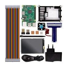 Cheap price Raspberry Pi 3 Model B Starter Kit Pi 3+1 Acrylic Case +2.5A Power Supply  + Fan + GPIO Adapter +Wifi Bluetooth Adapter