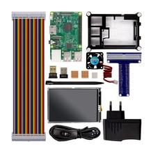Pi Raspberry Pi 3 Modelo B Starter Kit 3 + 1 Caja de Acrílico + 2.5A fuente de Alimentación + Ventilador + Adaptador Wifi + Bluetooth Adaptador GPIO