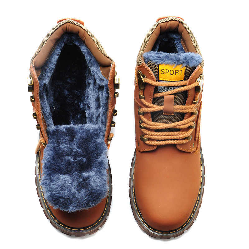 ... Reetene зимние мужские ботинки высокого качества из натуральной кожи, мужские  ботинки для работы и ... 63826cda4e4