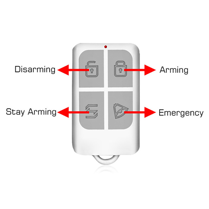 KERUI Wireless Remote Control Key Sensor Keychain For Touch Keypad Panel GSM PSTN WIFI 2G 3G Home Security Burglar Alarm System