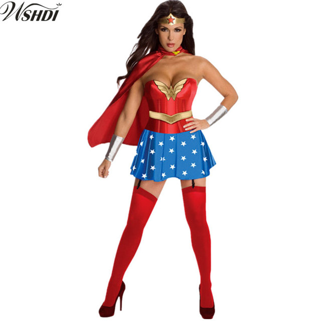 Superwoman and wonder woman costumes-3175
