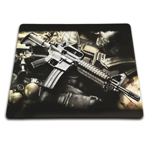 Background Durable Overlock Edge Rubber Rectangle Mat Boy Man's Favorite New Gun Rubber Soft Gaming Mouse Games Black Mouse pad