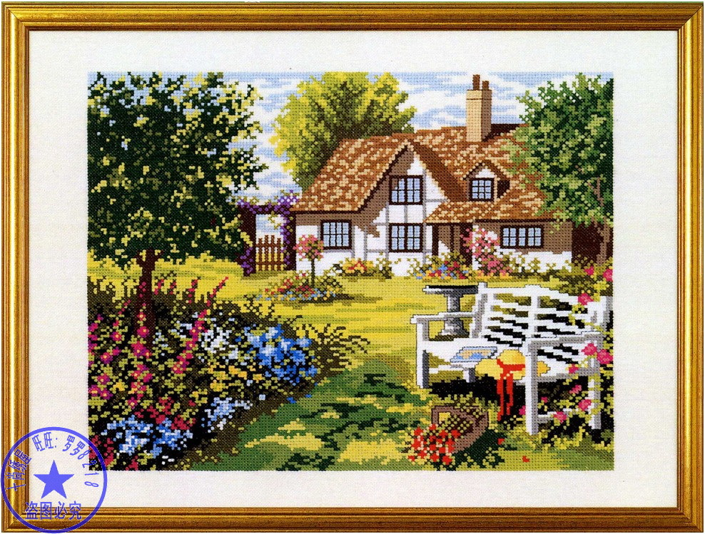 Top Quality Romantic Lovely Counted Cross Stitch Kit Beauty House Home Cottage