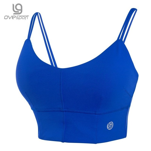 Ovesport Women Sports Bras Padded Fitness Tops Gym Double Strappy Yoga Running Bras For Women Activewear Training Bras