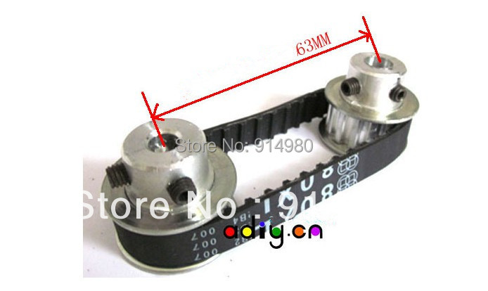 New gear,synchronous pulley and synchronous belt,2synchronous rounds+1belt suitable for all kinds of motor Aperture 6MM,8MM,10MM m75 750kgs pulley 304 stainless steel roller crown block lifting pulley factory direct sales all kinds of driving pulley