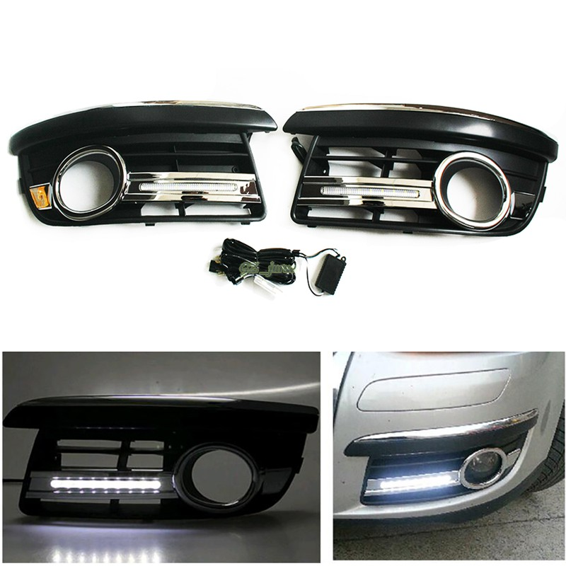 2x car-specific for VW Jetta MK5 Sagitar 2006 2007 2008 2009 2010 LED DRL daytime running light free shipping for vw jetta sagitar golf 5 variant 2006 2010 led drl daytime running light lamp top quality