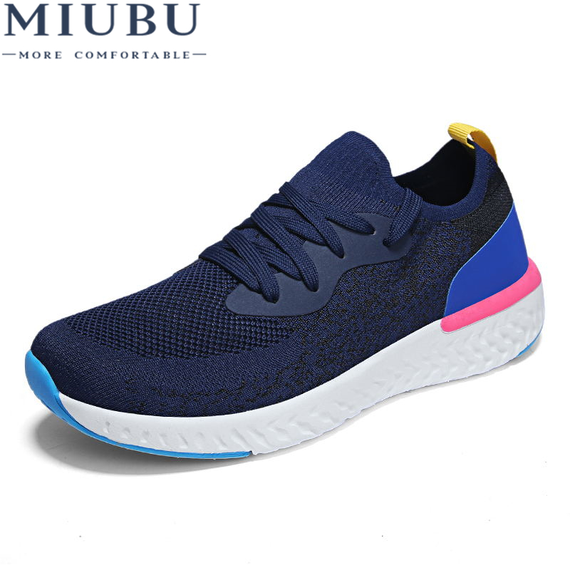 MIUBU Brand New Summer Mesh (Air mesh) Mens Breathable Loafers Black Shoes Spring Autumn Lightweight Fashion Men Casual