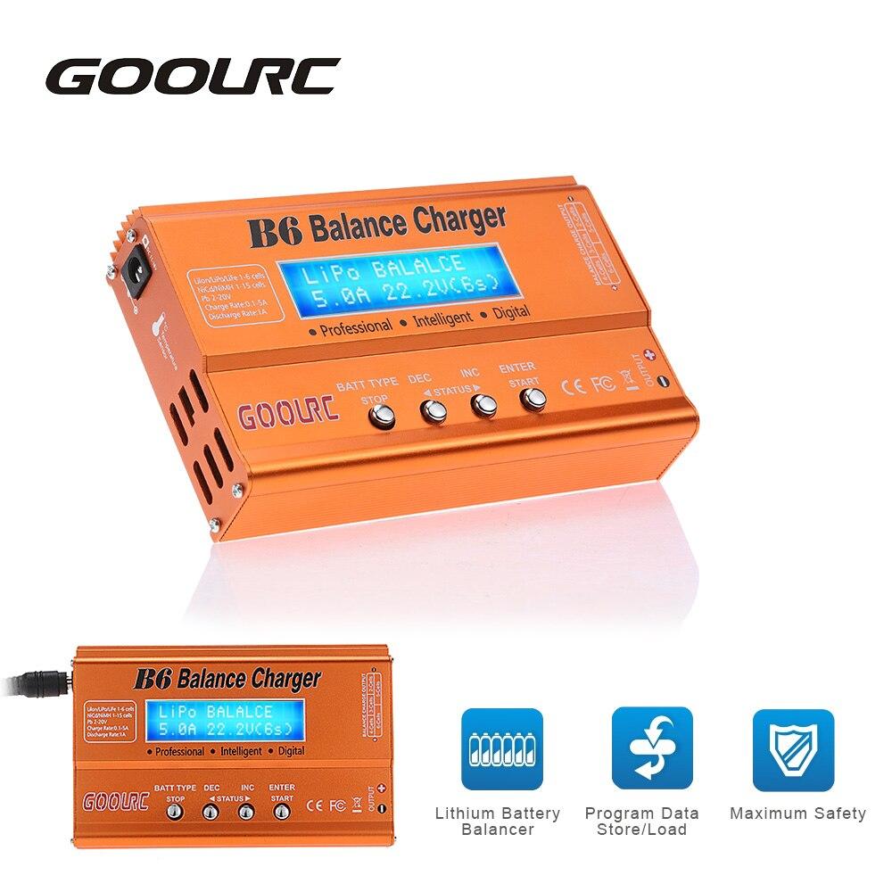 745ffc473f9 Goolrc Venta caliente B6 mini multifuncional balance cargador descargador  para Lipo lilon Life NiCd NiMH PB RC batería juguetes piezas