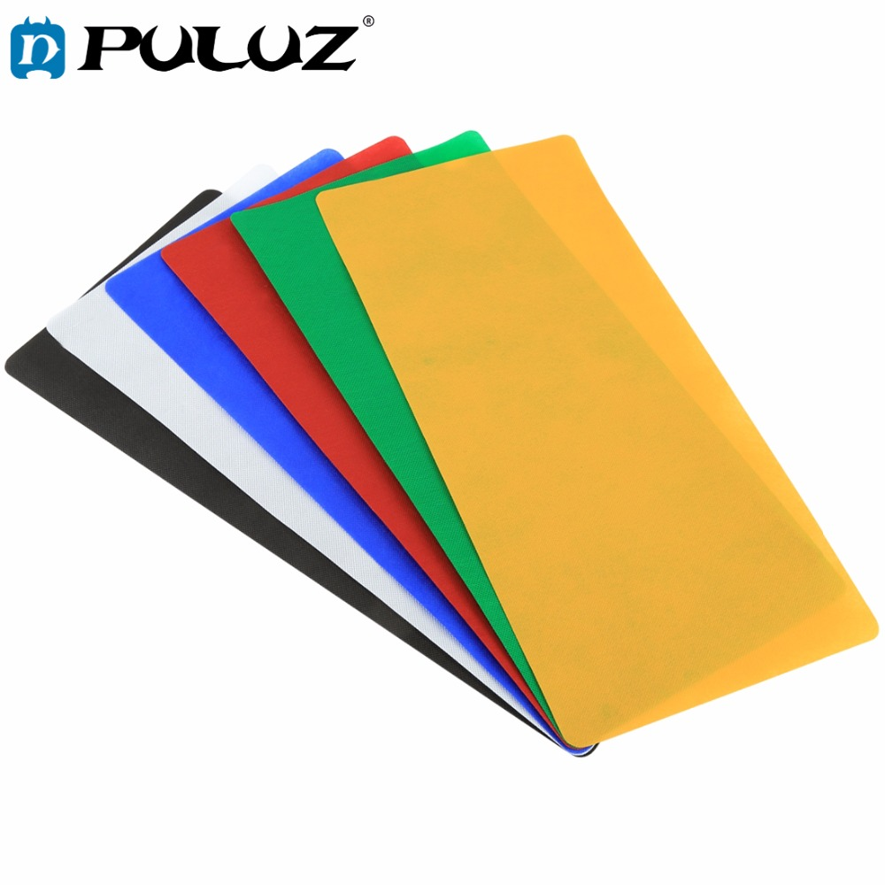PULUZ 6PCS 80x40  Collapsible Photography background Screen Backdrop Background Kits for Photo Lighting Studio Tent Box lightbox supon 6 color options screen chroma key 3 x 5m background backdrop cloth for studio photo lighting non woven fabrics backdrop