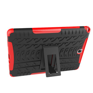 Image 5 - Hybrid Stand Hard Silicone Rubber Armor Case For Samsung Galaxy Tab A 9.7 T555 T550 SM T555 SM P550 Anti knock Cover+film+pen