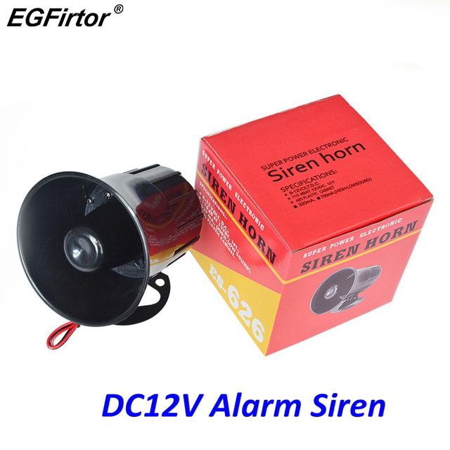 Security DC 12V Outdoor Alarm Siren Wire Loud Alarm Horn 115Db Exterior Sirena Alarma Speaker For Alarm System 20W
