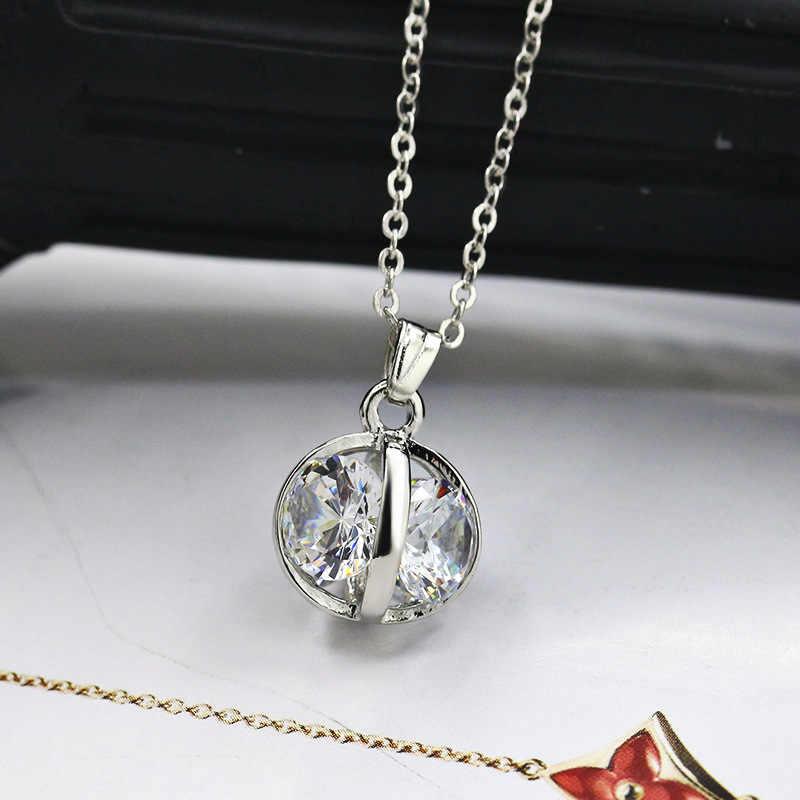 Cinderella Carriage Pearl สร้อยคอเงินฟักทอง Locket ผู้หญิงไข่มุกสร้อยคอผู้หญิงเครื่องประดับคริสต์มาส/วันเกิด