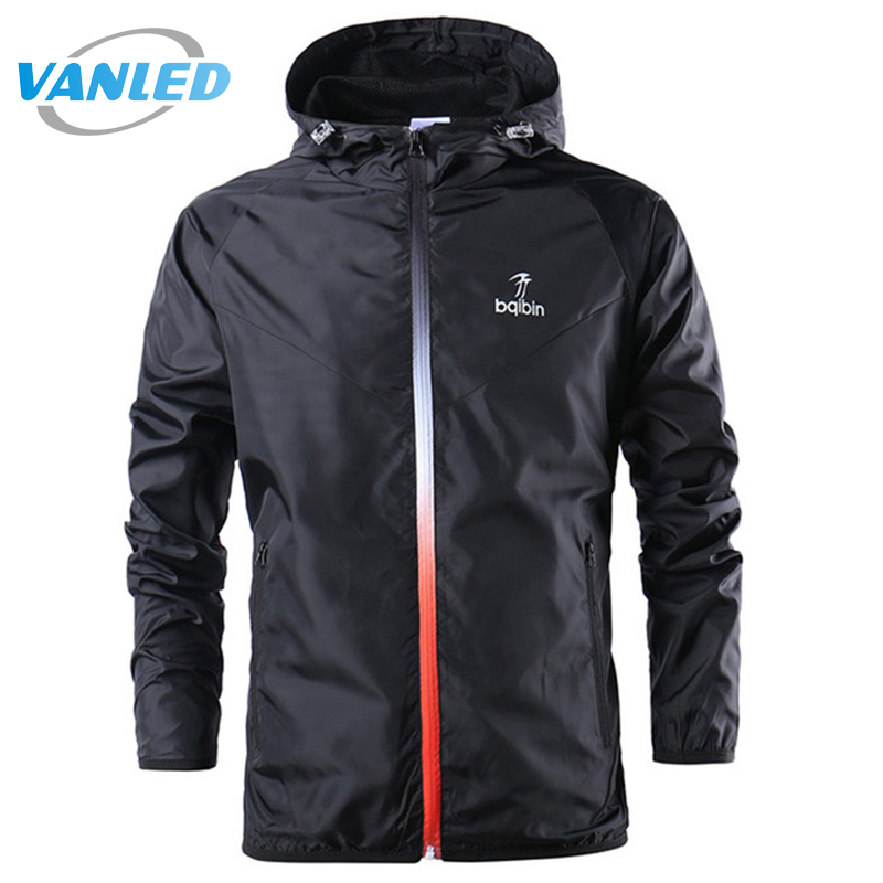2017 New Spring Summer Mens Fashion Outerwear Windbreaker Men' S Thin Jackets Hooded Casual Sporting Coat Plus Size