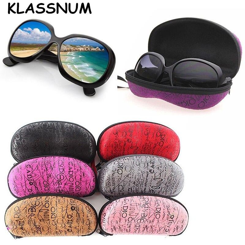 2017 Black Eye Glasses Sunglasses Hard Case Portable Holder Protector Box Clamp Shell Mar18_15 Eyewear Accessories